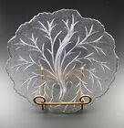 Clear Cabbage Leaf Divided Serving Dish 10