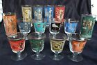 14 Libbey International Cities of the World 8 Footed Glasses 6 Tumblers c. 1959