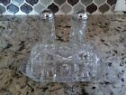 Vintage Anchor Hocking Star of David Salt and Pepper Shakers and Butter Dish