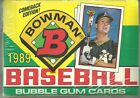 1989 Bowman Baseball Unopened Sealed Wax Box 36 Packs Griffey Jr Rookie Card