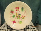 Fiesta Ware Belk Exclusive HOLIDAY GIFTS   IVORY  Christmas Luncheon plate NWT