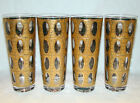 4 Signed Culver Mid Century Tom Collins Cooler Piza Pattern Glasses