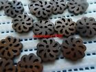 in bulk 100ps 20mm ladyscoat DIY Scrapbook Sewing Cardmaker carving wood buttons