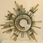 Curtis Jere Retro Modern Abstract Wall Sculpture Brass w Patina 1988
