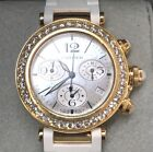 Cartier Ladies Pasha Chronograph Seatimer 18K Rose Gold and diamonds     r