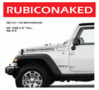 Rubicon RUBICONAKED Jeep Hood Decals Stickers Graphics Wrangler 2 x 26