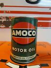 Vintage Amoco Motor Oil Can * One Quart