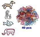 Small Paper Clips Mini Sizes Cute Animal Shapes Assorted Color Fun Decorative