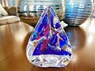 1995 Signed Michael Schmidt Sonia Rhea Triangle Paperweight 425 Tall SIRG 95