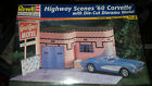 Revell 1/25 Highway Scenes '60 Corvette with Die-cut Diorama Motel sealed