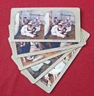 5 DIFFERENT VINTAGE US NAVY SAILOR'S LIFE COLOR STEREOVIEW CARDS
