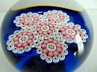 1972 ST LOUIS Crystal France Complex Millefiori Closepack Paperweight Glass