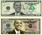 President  Barack Obama # 44 Bill &  2008-2016 Commemorative Dollar Bill