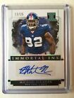 2018 Impeccable Football Michael Strahan Immortal Ink Silver Auto 25