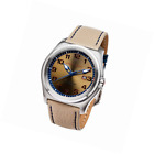 Perry Ellis Memphis Men 44mm Quartz Analog Stainless Steel Watch with Leather Ba