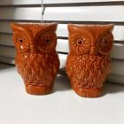 Ceramic Owl Salt  Pepper Shakers Painted Glazed Wildlife Decorative Collectible