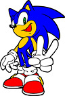 Sonic The Hedge Hog Sonic Peace Vinyl Decal Sticker 3 inch to 12 inch