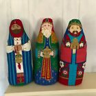 Vintage THREE WISE MEN CRANSTON Fabric Soft Sculpture Stuffed Nativity Large