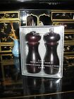 Olde Thompson 6 Caffe Wood Pepper Mill and Salt Shaker Set New
