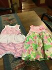 Naartjie Baby Toddler Girls Romper And Lined Pumpkin Patch Dresssize 12 18 Mo