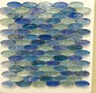ASLG 3 ACOUSTIC BLUE Oval Glass Mosaic Tile  30 SHEETS OF CLEARANCE SALE