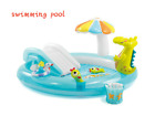 Inflatable Pad Pool Baby water swimming for kids with slide swim toy NEW gift