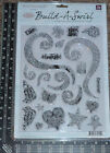 NEW Large Prima Clear Stamps Build A Swirl Super Fabulous Clear Acrylic Stamps