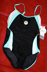 Speedo Swimming lap pool Black with Mint Green White Size 12