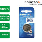 1 x Renata CR 2477N 3V Lithium Knopfzelle Batterie im Blister - N Version