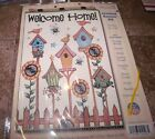 Design Works Felt Jewel Kit WELCOME HOME Bird Houses BANNER 16