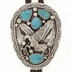 Navajo Turquoise Sterling Silver Eagle Mens Bolo Tie Native American T Ahasteen