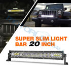 14 20 30 40 52 54 Inch Led Light Bar Flood Spot Work Driving 4row 4wd Boat