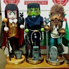 Steinbach ALL 3 Horror Legends Series Nutcrackers Dracula Frankenstein Werewolf