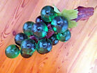 Vintage Large Green Glass Lucite Grapes Cluster Driftwood Decor 13 Free Ship