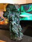 Huge Emerald Sculpture Statue Carving Expulsion from Eden 128 Pounds