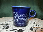 Fiesta Ware Retired ADVERTISING MUG Ring Handle COBALT BLUE  Valley Hospice