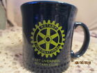 Fiesta Ware Promotional Java  Mug COBALT Blue East Liverpool Rotary Club