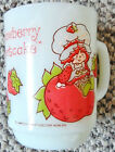 VTG. STRAWBERRY SHORTCAKE MILK GLASS MUG/CUP ANCHOR HOCKING 1980