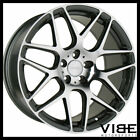 20 ACE MESH 7 GREY MACHINED CONCAVE WHEELS RIMS FITS AUDI B8 A4 S4