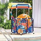 Pool Toy Parts  Accessories Storage Bin With Noodle Holder For Rafts Vests