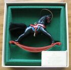 Hallmark Ornaments-1982 Rocking Horse- #2 In Series 1982 QX502-3-with box-no tag