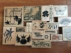 Club Scrap Rubber Stamp Lot Of 16 Stamps + 3 Bonus  Free Shipping