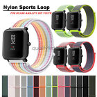 20mm Nylon Sport Loop Watch Band Strap For Xiaomi Amazfit Bip Youth Smart Watch