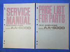 AKAI AA-6000 INTEGRATED AMPLIFIER SERVICE MANUAL ORIGINAL FACTORY ISSUE