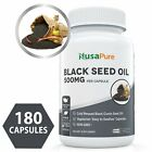 BLACK CUMIN SEED OIL Cold Pressed Pills Nigella Sativa Unrefined 180 Capsules