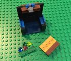 Lego Pirate TREASURE CHEST with LOTS of Jewels/Gems/money/Gold Bars - Blue Latch
