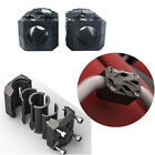 1 Pair Black Plastic Motorcycle Engine Guard Block Fit all 22/25/28mm Bumper