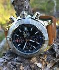 Breitling Avenger II Chronograph Mint 43 A1338111 Boxes Black Stick Dial Boxes