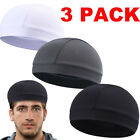 3PACK Men Woman Skull Cap Quick Dry Sports Sweat Beanie Hat Cycling Dome Caps
