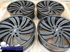 22 FORGIATO TURBINATA C GLOSS BLACK BRUSHED WHEELS RIMS MERCEDES BENZ G WAGON